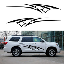 2 X Resolutely Courageous Courageously Abstract Striped Car Stickers for Motorhome Camper Van RV Door Canoe Vinyl Decal 9 Colors
