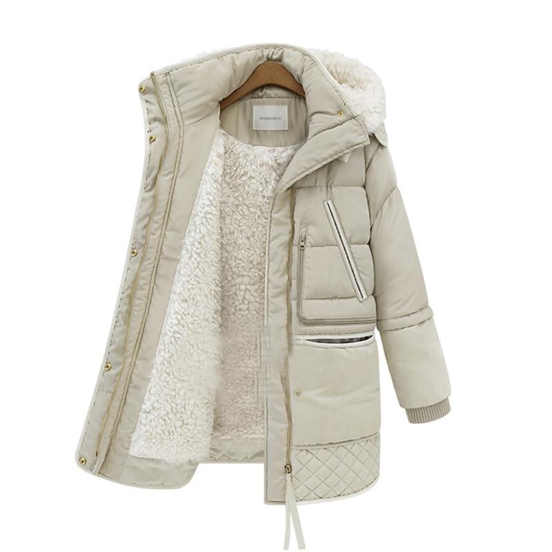 Veste Femmes Bas Cheveux Automne Manteau Mince noir Et De 2018 Épais Long Beige Le Nouvelle D'hiver Agneau Vers Mode qRwwAfHS