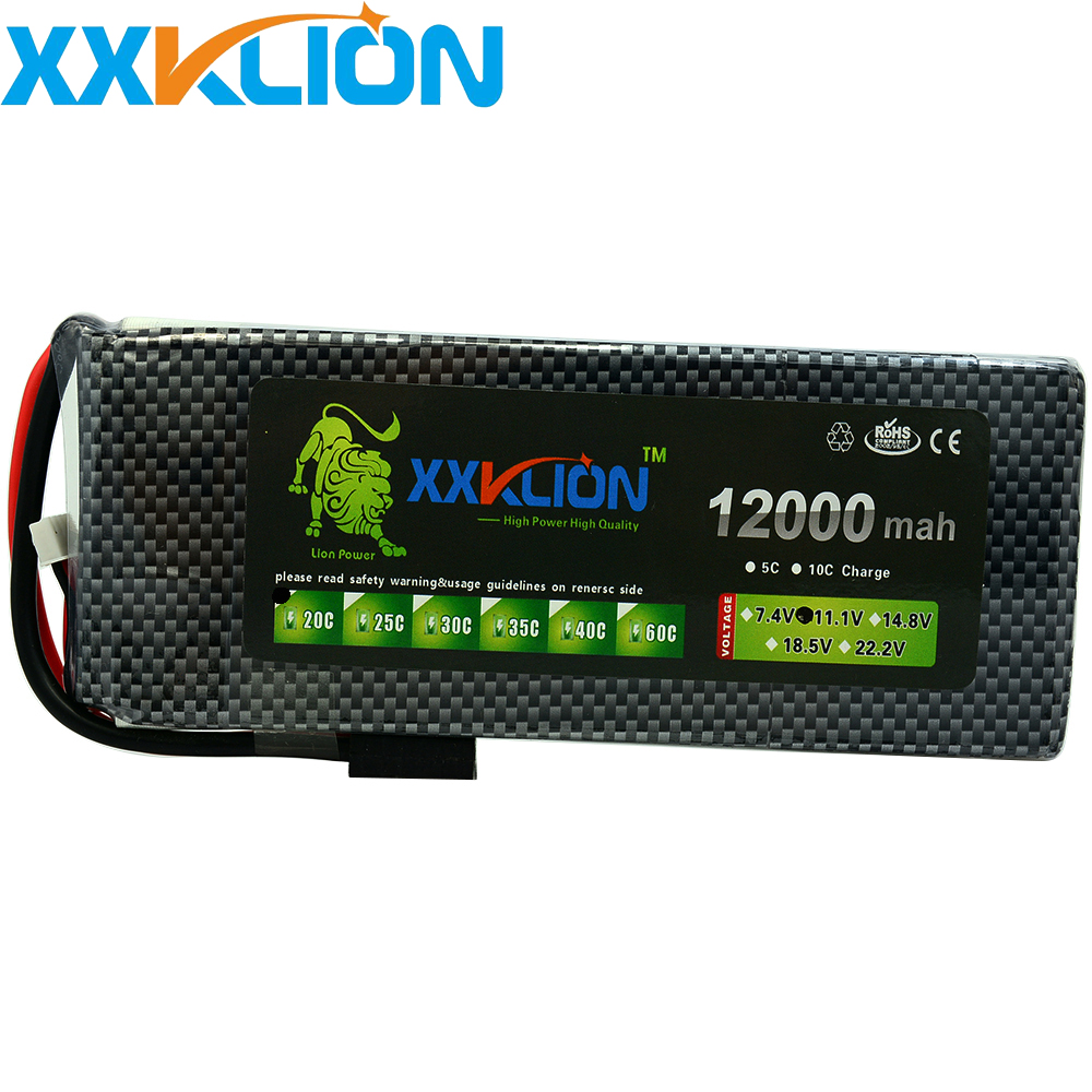 XXKLION 11.1v <font><b>12000mAh</b></font> 20C 25C <font><b>3S</b></font> <font><b>Lipo</b></font> drone battery pack for rc airplane Aerial multi - axis unmanned aerial vehicle image