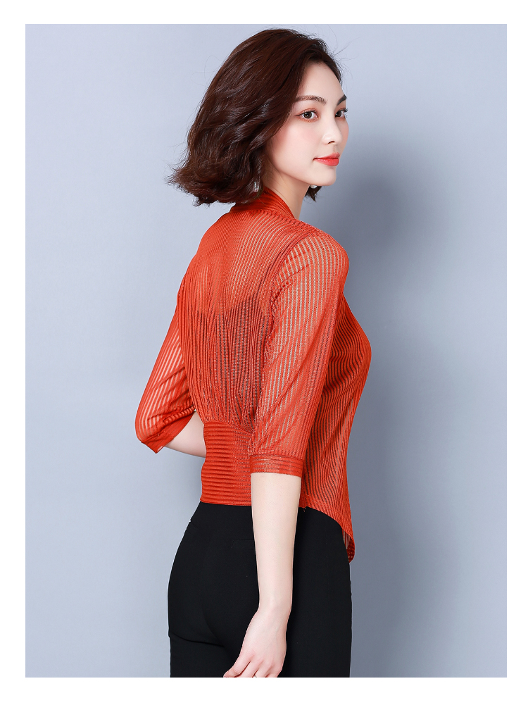 Women coats 2019 fashion ladies coats shirts short coats Solid Three Quarter office lady Open Stitch coats women 3723 50