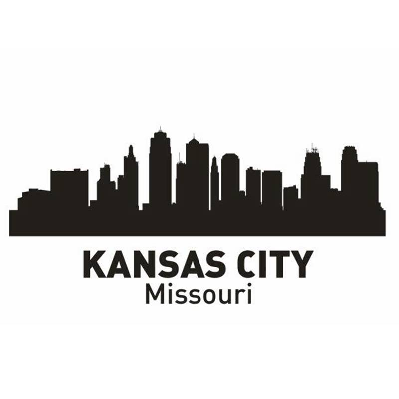 DCTAL KANSAS City Decal Landmark Skyline Wall Stickers Sketch Decals Poster Parede Home Decor Sticker