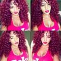 99J Peruvian Deep Wave Virgin Hair With Closure Burgundy Weave Bundles With Closure Red Wine 4 Bundles Deep Wave With Closure