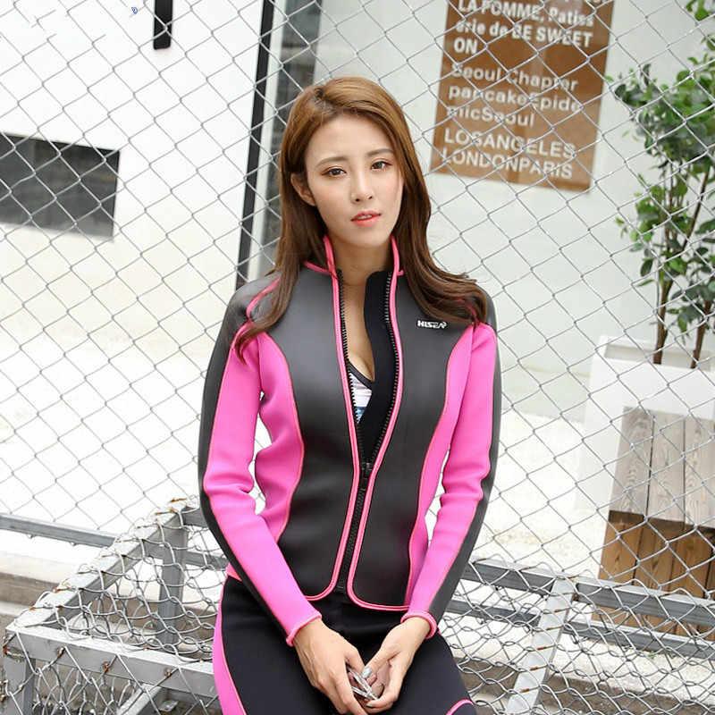 2018 Hisea Seac 2.5 Mm Wanita Peralatan Baju Mantel Celana K Berlaku Celana Ketat Neoprene Wetsuit Menyelam Jaket Celana Panjang