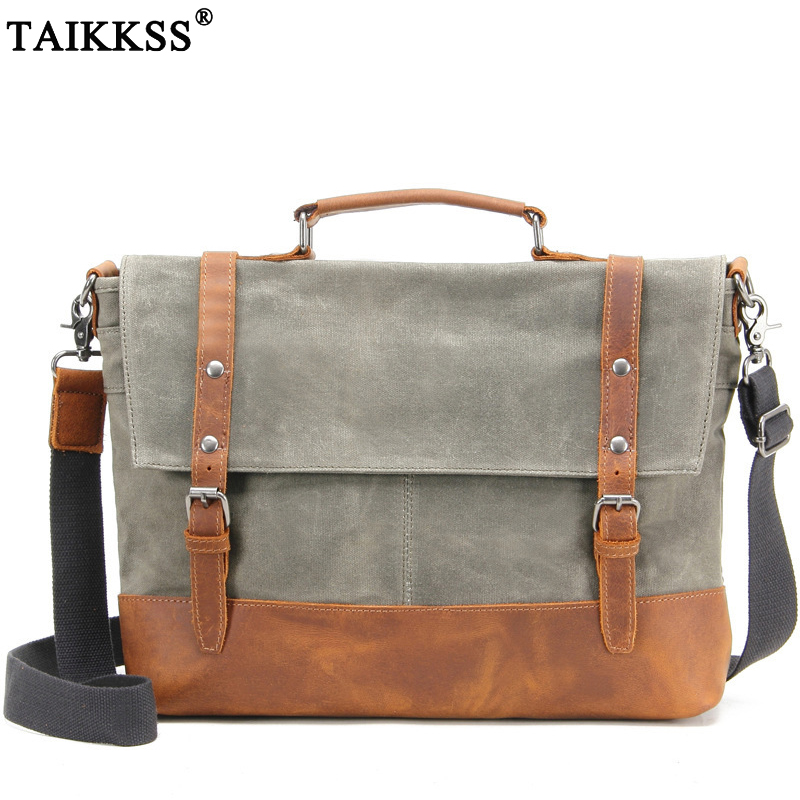 цены Men Multifunction Vinatge Messenger Bags handbag Fashion Canvas Shoulder Bag Male Casual Travel Crossbody Bag Business Briefcase