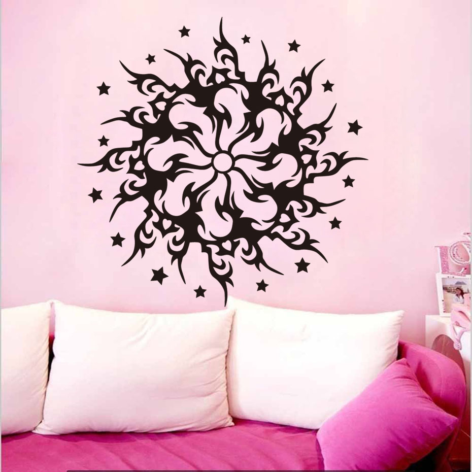 Mandalas Wall Stickers Circle Flower Indian <font><b>Bohemian</b></font> Style Wall Decals <font><b>Home</b></font> <font><b>Decor</b></font> Removable Sticker For Bedroom