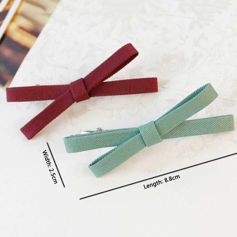 Horquillas de lazo Simple lazo tipo cruz tela de cinta pasadores mujeres niñas horquillas sombreros de Niña Accesorios para el cabello