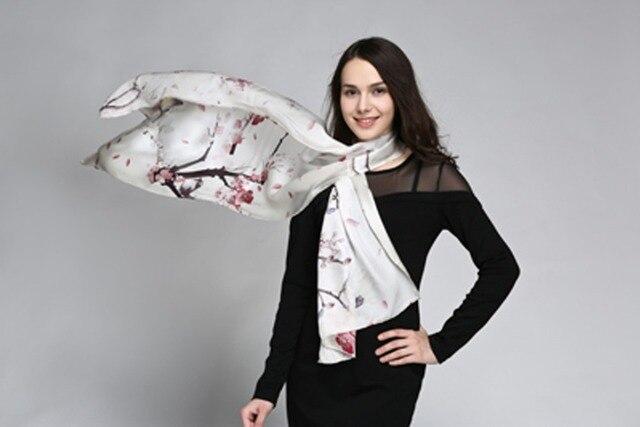Новое поступление женщина роскошный высококачественный сорт марка дизайнер 100% чистого шелка долго печать атласа 55 * 180 см мода платки бесплатная shipping-a11