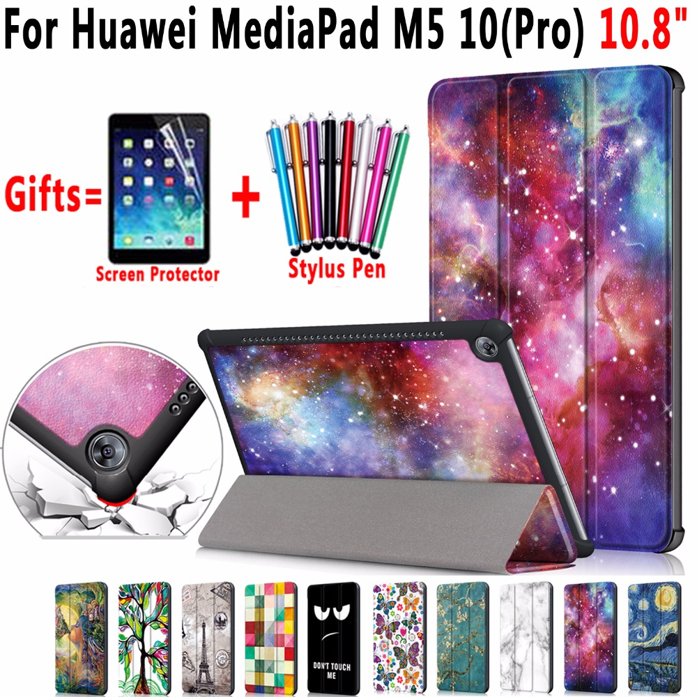 Famous Paintings Magnetic Leather Smart Case Cover for Huawei MediaPad M5 10 Pro 10.8  CMR-AL09 CMR-W09 Coque Capa FundaFamous Paintings Magnetic Leather Smart Case Cover for Huawei MediaPad M5 10 Pro 10.8  CMR-AL09 CMR-W09 Coque Capa Funda