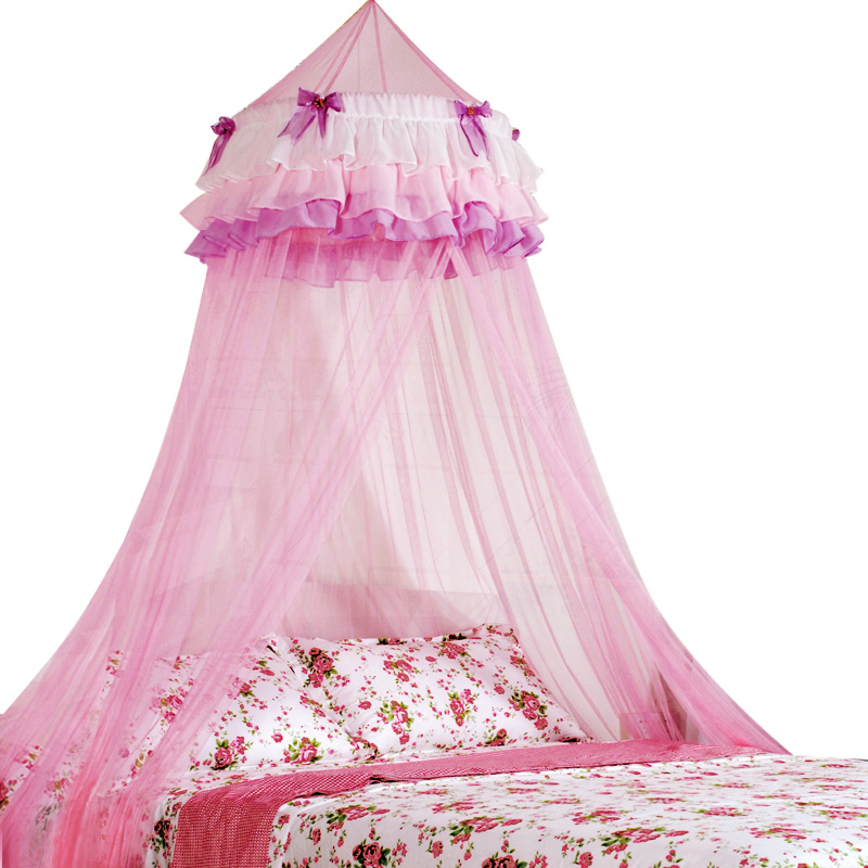 Circular mosquito net tulle Valance for bedding set Pink secret decoration home for Kids Girls canopy