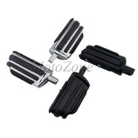 Male Mount Motorcycle Rubber Footrest Foot pegs Floorboard Compatibility For Harley Touring Road King Softail Sportster 883 1200