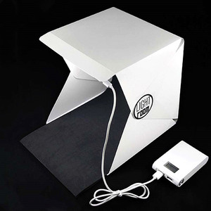 Image 3 - Baolyda Taşınabilir LED Stüdyo Fotoğraf Kutusu 24/30/40 cm fotoğraf stüdyosu aksesuarları Siyah/Beyaz Arka Plan Fotoğraf stüdyo Softbox