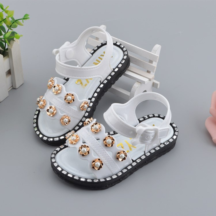 Girls Sandals Summer New Beach Shoes Children PVC Soft Bottom Sandals Girls Baby Korean Shining Princess Party Shoes For KidsGirls Sandals Summer New Beach Shoes Children PVC Soft Bottom Sandals Girls Baby Korean Shining Princess Party Shoes For Kids