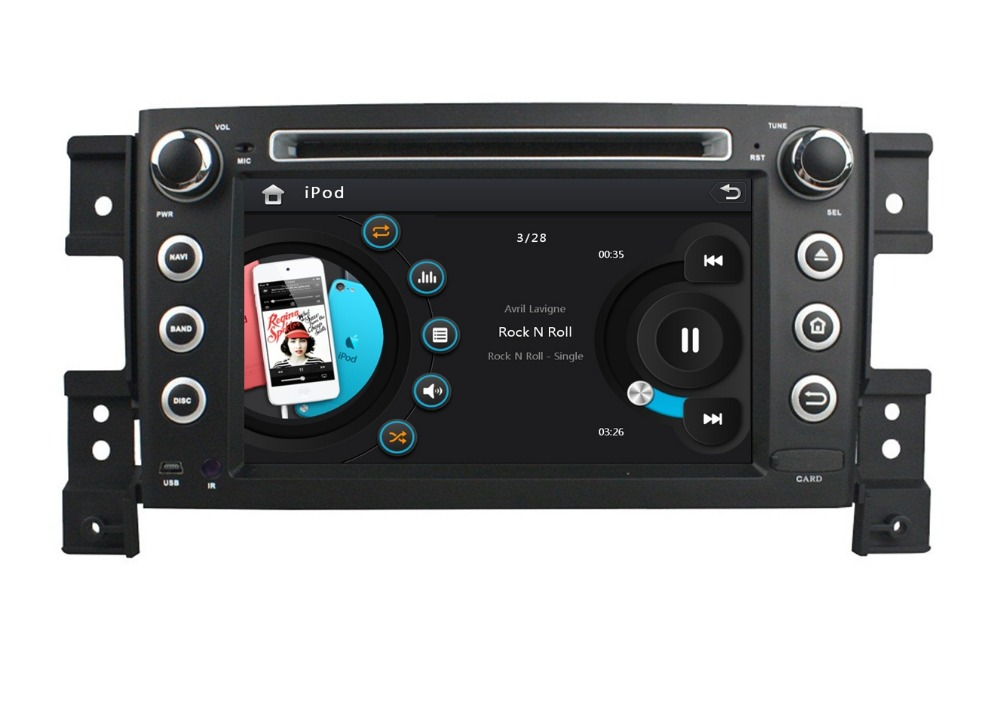 Touch screen HD 2 din 7″ Car DVD Player for Suzuki Grand Vitara 2005-2011 With Radio GPS Bluetooth IPOD TV SWC USB AUX IN