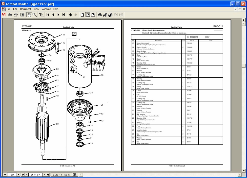 BT Quality Parts Catalogin Software from Automobiles
