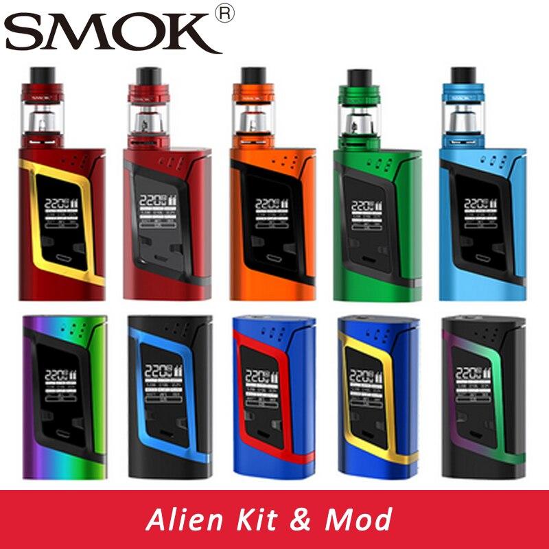 Smok Alien Kit Alien 220W Box Mod With 3ml TFV8 Baby Tank E Electronic Cigarette