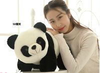 middle new lovely plush panda toy black&white cute panda doll gift about 50cm