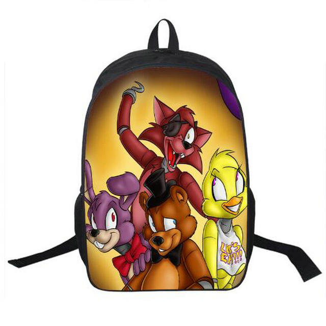 anime five nights at freddy backpack for teenagers boys girls school