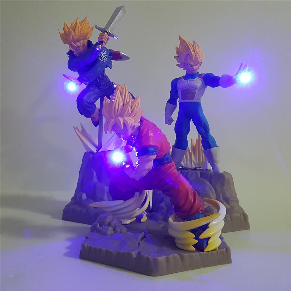 Lampara Dragon Ball Z Goku végéta troncs Super Saiyan jouets Anime Dragon Ball lampe de Table décor éclairage Son Goku LED veilleuses