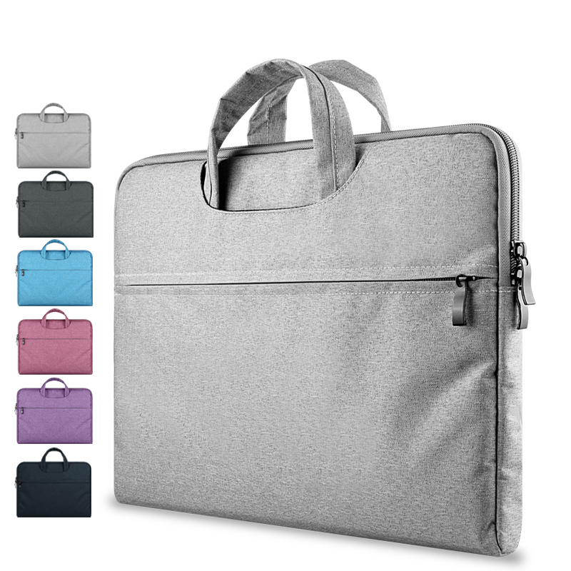 "Unisex 2017 New Laptop Briefcase Business Portable KUMON Grey For Apple Macbook Funda Ordenador Cases Notebook 15.6"" Laptop Bags"