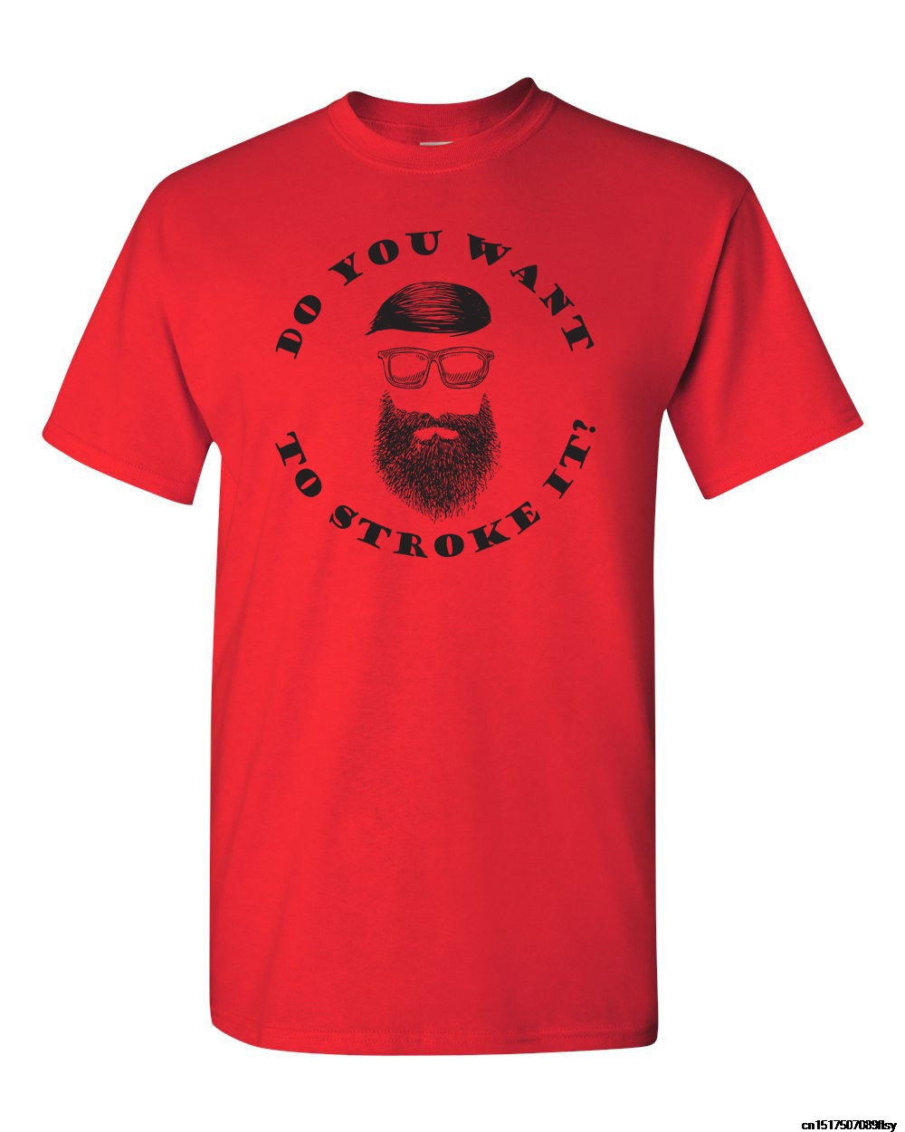 MenS Round Neck Blouse Short Sleeves Cotton T Shirt Do You Want To Stoke It? MenS Beard Mustache Funny MenS Tee Shirt 1371