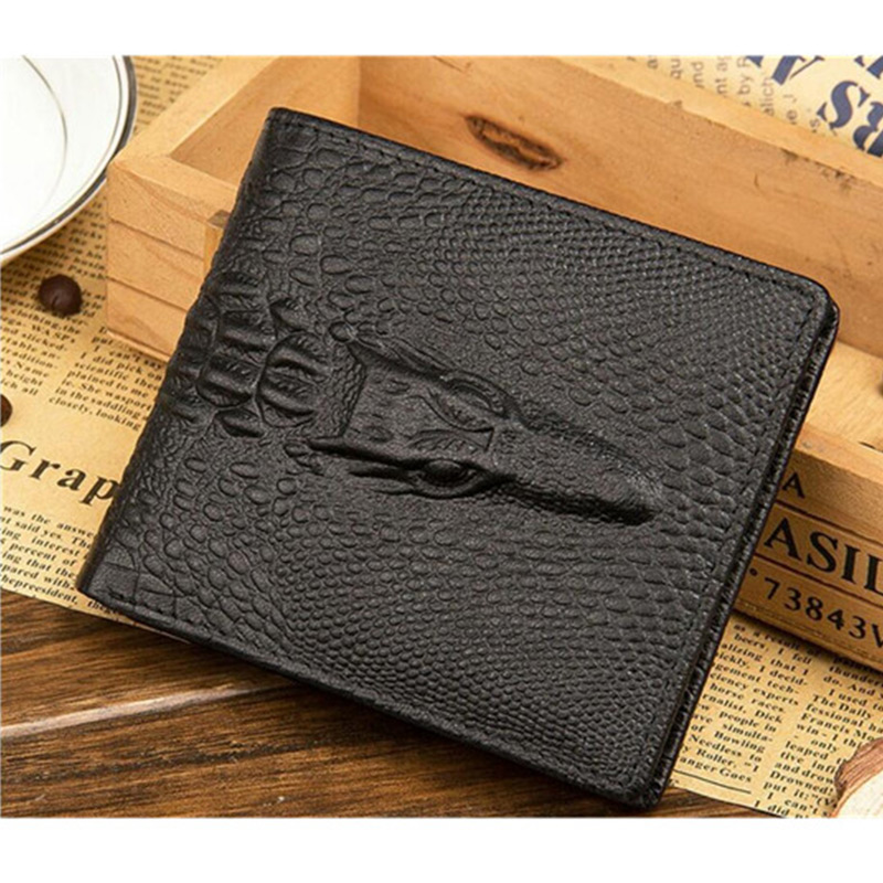1Pcs Men wallet Leather Wallet Clutch Hidden pocket Crocodile Purse  Crocodile Skin wallet 70e990958a599