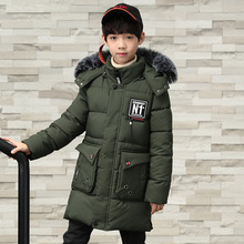 Winter Thicken Windproof Warm Kids Coat Waterproof Children Outerwear Hooded Cotton Clothes Boys Jackets for 3-12 Years Old
