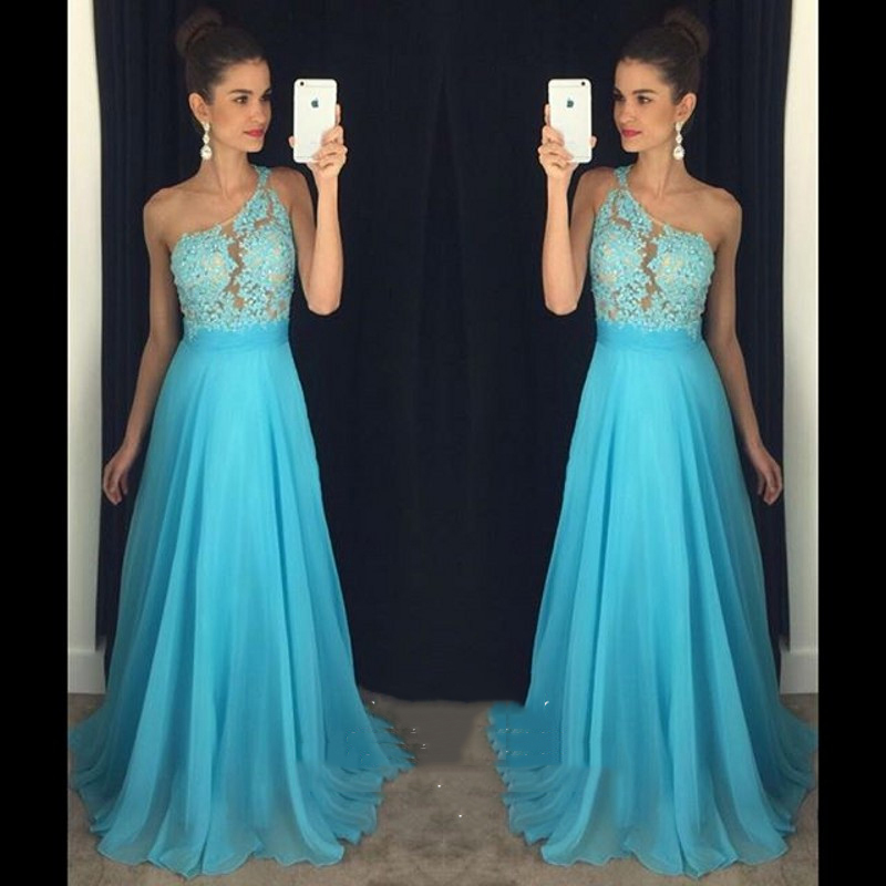4e4375bce Vestido dama de honor largo azul - Vestidos formales