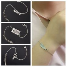 Simple Style Silver Plated Charms Bracelet Jewelry Gift Wedding Banquet Wholesale High Quality