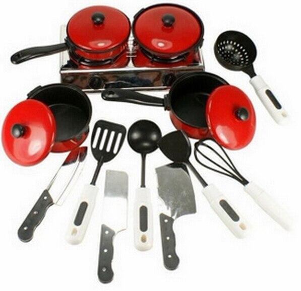 13 adet/takım Çocuk oyuncak yapay sofra kadın mutfak oyuncaklar Ev çocuk Eşyaları Pişirme Tencere Çocuk Tavalar Gıda Yemekleri +