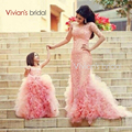 New Ruffled Flower Girl Dresses For Wedding Floor Length Ball Gown Princess Girl's Pageant Dresses