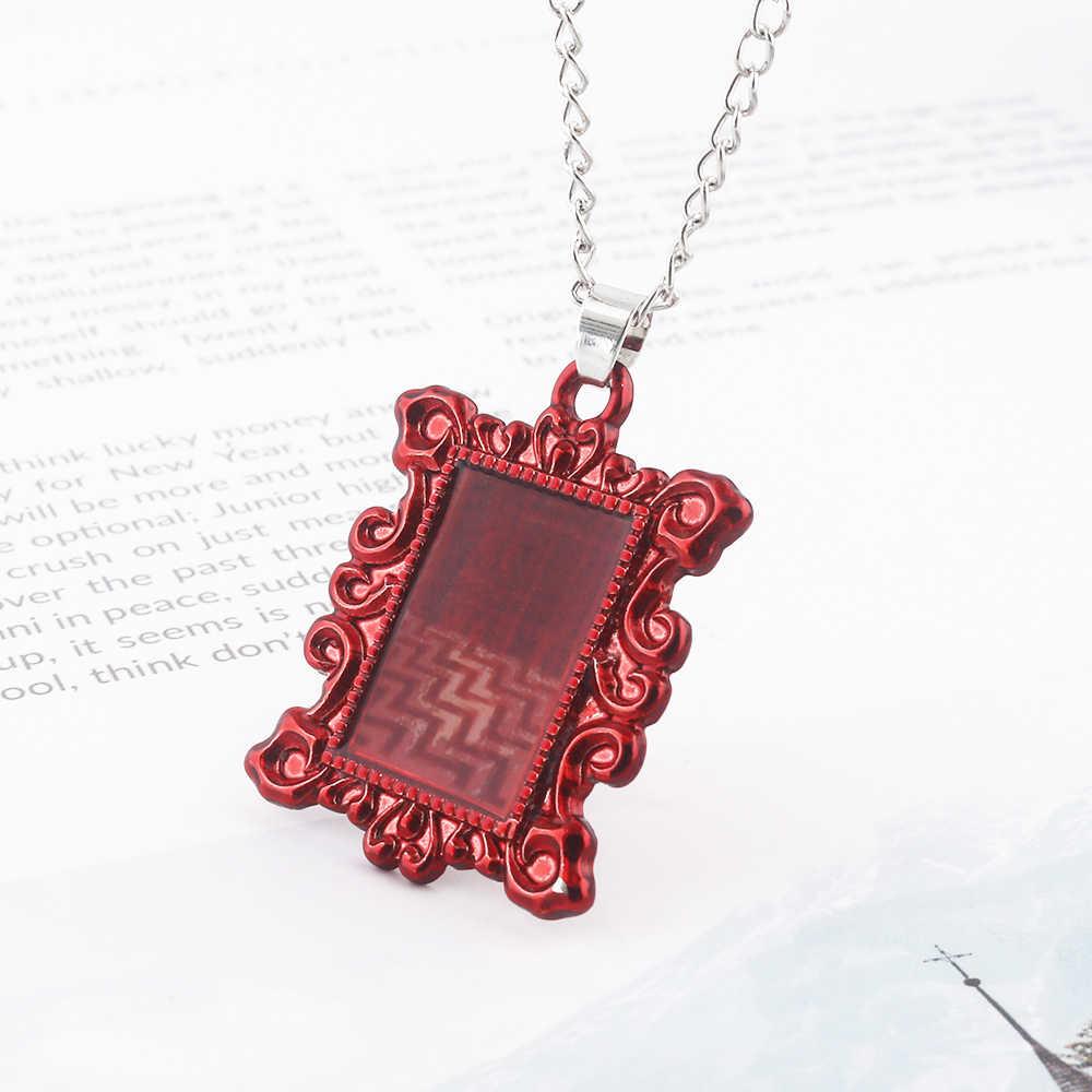 ТВ шоу Твин Пикс ожерелье s красный домик кулон-фоторамка ожерелье для женщин мужчин ювелирные изделия Рождественский подарок