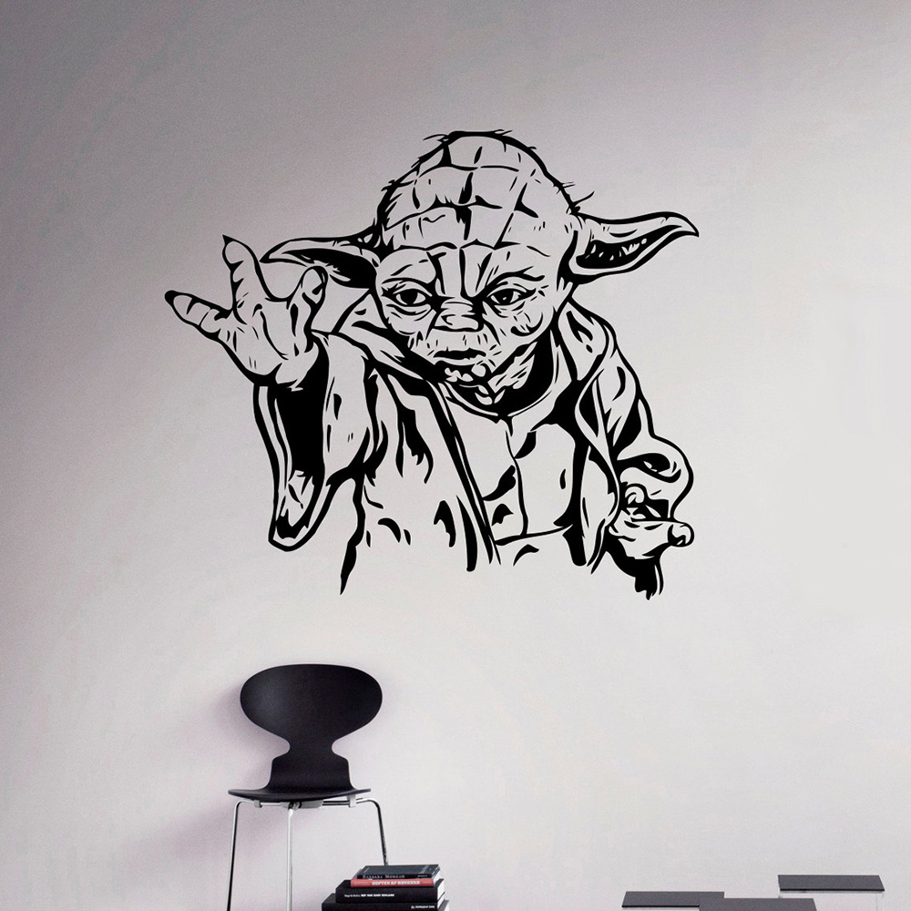 Jedi Master Yoda Star Wars Vinyl Wall Decal Home Decor Art Mural Removable Wall Stickers & Jedi Master Yoda Star Wars Vinyl Wall Decal Home Decor Art Mural ...