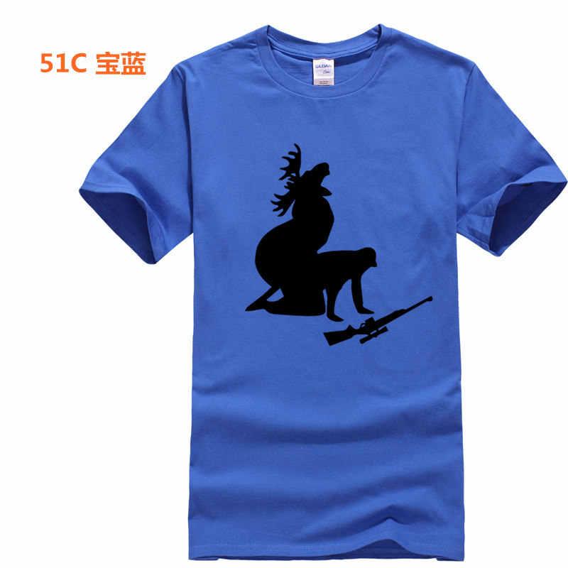TEEHEART брендовая футболка для мужчин/wo Мужская хлопковая футболка модная футболка с принтом диких охотников и оленей летние футболки