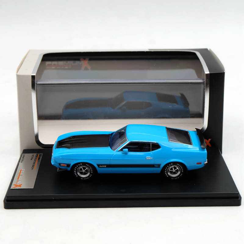 Premium X IXO 1:43 Ford Mustang Mach 1 1973 Blue PRD399J Resin Models Car Limited Edition Auto Collection Toys ixo premium x 1 43 stutz blackhawk coupe 1971 red prd002 limited edition collection resin auto models