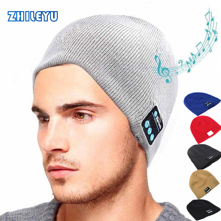 Warm Bluetooth Hat with Soft and smart Microphone Wireless Music Headset Headphone Cap for Outdoor Sport Beanie Comfortable fashion soft warm beanie hat wireless bluetooth smart cap headphone headset speaker mic