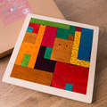 Uncle Wood Dimensional Puzzle 3D Puzzle Best Gifts For Child Wooden Multilayer Puzzle Kids Educational Toy Storytelling