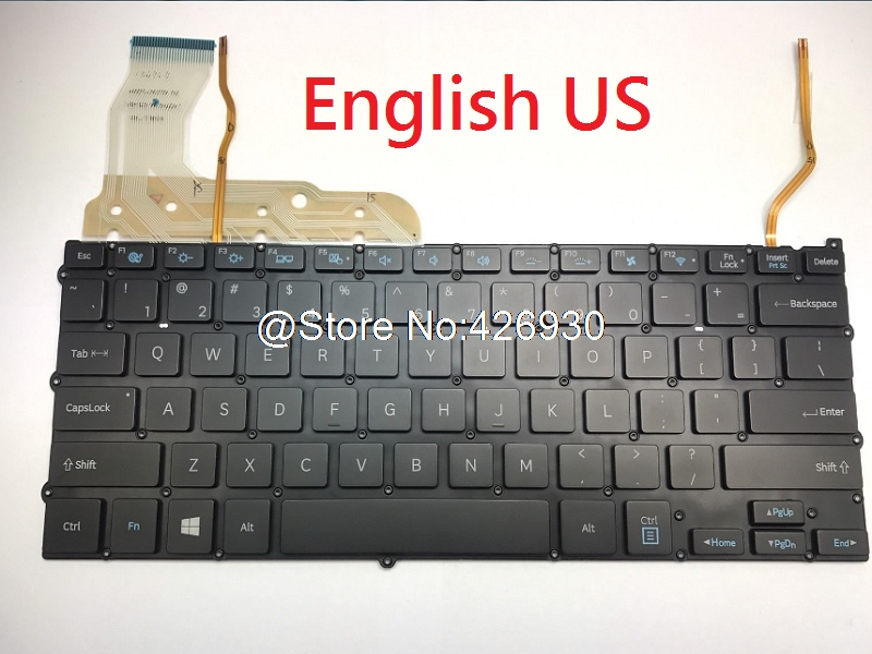 Laptop Keyboard For SAMSUNG NP940X3G NP940X3F United Kingdom UK France FR English US Korea KR Turkey TR Spain SP Brazil BR HU new tr keyboard for samsung np rf510 rf511 turkey laptop keyboard with touch palmrest cover topcase