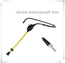 มืออาชีพกันน้ำคอนเดนเซอร์ไมโครโฟนกีฬาชุดหูฟังM IcrofoneสำหรับSennheiserระบบไร้สายTRS 3.5มิลลิเมตรสกรูแจ็คไมค์