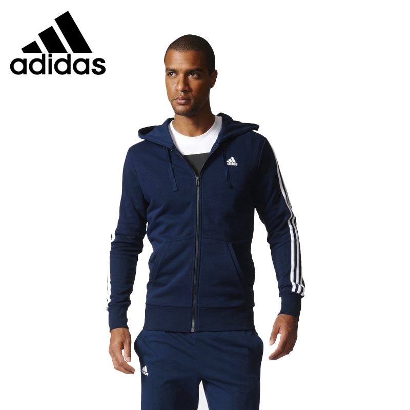 Original New Arrival 2018 Adidas ESS 3S FZ FT Men's jacket Hooded Sportswear толстовка ess hooded jacket tr