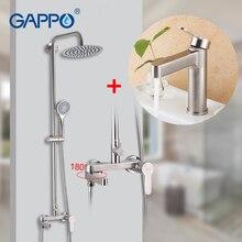 GAPPO deszczownica zestaw opady deszczu bateria prysznicowa z mieszaczem łazienka ściana prysznica system prysznicowy wanna zlew wodospad gorący kran z zimną wodą