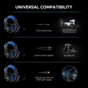 Image 3 - Mpow EG9 سماعة رأس ستيريو للألعاب 40 مللي متر السائقين مع هيئة التصنيع العسكري في خط ملون للتحكم سماعات الألعاب لينة سماعة الأذن ل PS4 التبديل الكمبيوتر Xbox