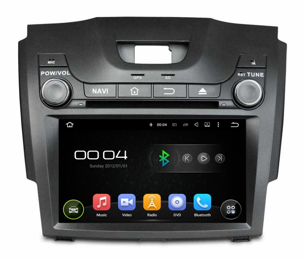 Quad core 8 android 5 1 car dvd gps for chevrolet s10 isuzu d max