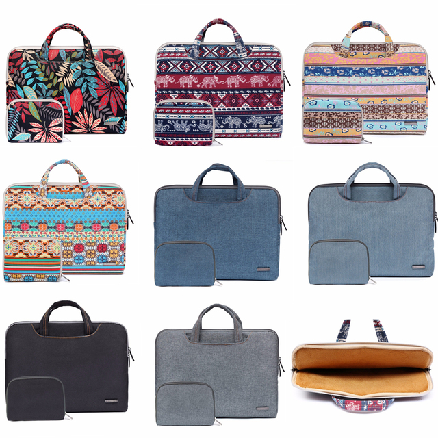 "Laptop Bag For Macbook Air 13 13.3"" Case Pro 13 Retina 11 12 14 15 15.6 Flower Portable Handbag bag for Dell HP Xiaomi Notebook"