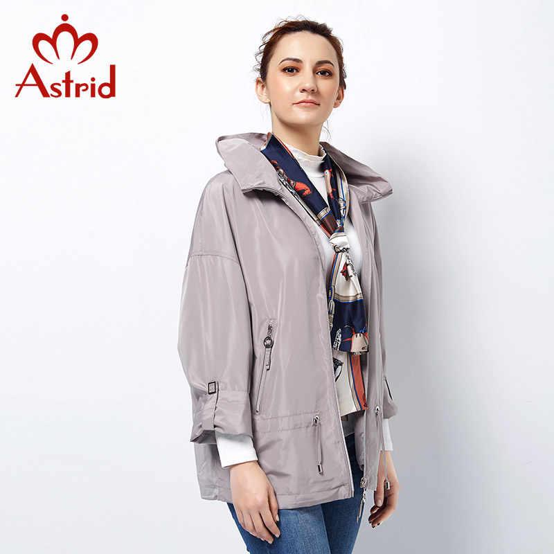 Astrid 2019 Neue Frühjahr Graben Mantel Plus Größen frau Mantel top Marke weibliche rollkragen Windjacke ukraine 3 farbe solide ALS-2723