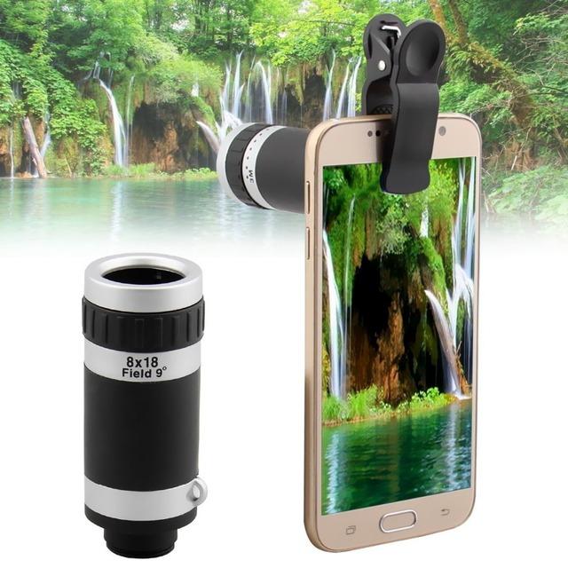 Universal 8x lente zoom óptico de cámara del telescopio del teléfono móvil para nokia lumia 520 630 525 640 640xl 930 1020 glass + metal lentes