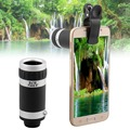 Universal 8x zoom óptico da câmera do telescópio lente do telefone móvel para nokia lumia 520 630 525 640 640xl 930 1020 vidro + do metal lentes