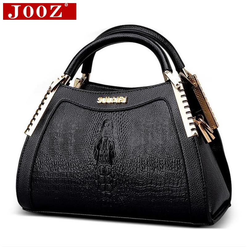 JOOZ Fashion Alligator leather handbags Women Messenger Bag Crocodile head Crossbody Bag For Women party handbag Bolsas Feminina hjphoebag fashion crocodile handbag pu leather bag women handbags crossbody bag handbag messenger bag rse wallet 6 sets z 0077