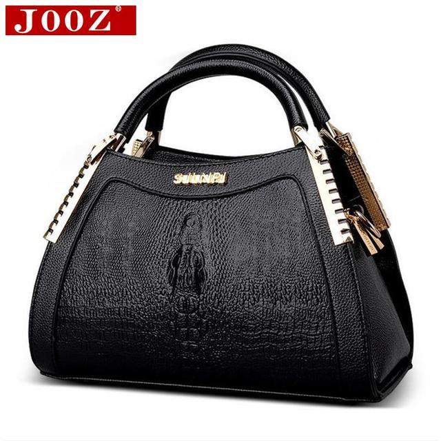 0b31f756ce JOOZ Fashion Alligator leather handbags Women Messenger Bag Crocodile head Crossbody  Bag For Women party handbag