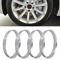 Anéis de alumínio do cubo dos pces dwcx 4 | cubo de 72.6mm ao furo da roda de 74.1mm | id 72.56 | od 74 para bmw 1 3 4 5 série 7 x1  x3  x4  x5  x6|hub rings|hub wheel|hub bmw -