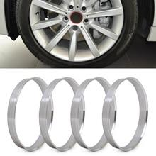 DWCX 4pcs Aluminum Hub Rings | 72.6mm to 74.1mm Wheel Bore ID 72.56 OD 74 For BMW 1 3 4 5 7 Series X1, X3, X4, X5, X6